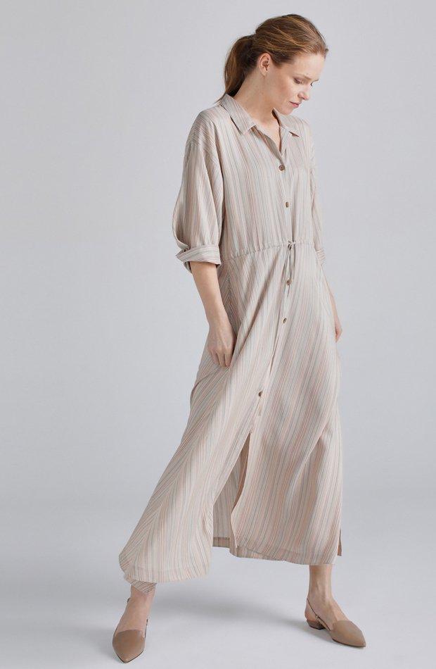 Vestido camisero con seda de Woman Limited El Corte Inglés: vestidos primavera 2019