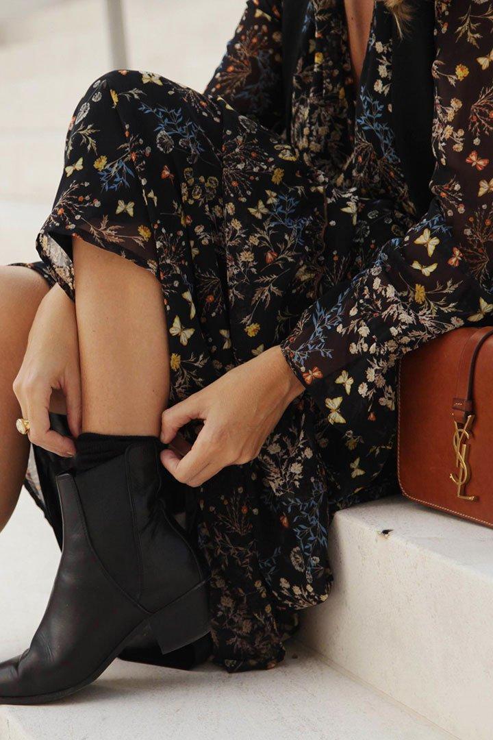 Vestido de estampado floral de El Corte Inglés