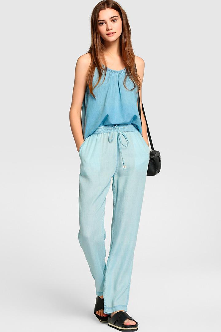 Pantalón fluido de Fórmula Joven azul