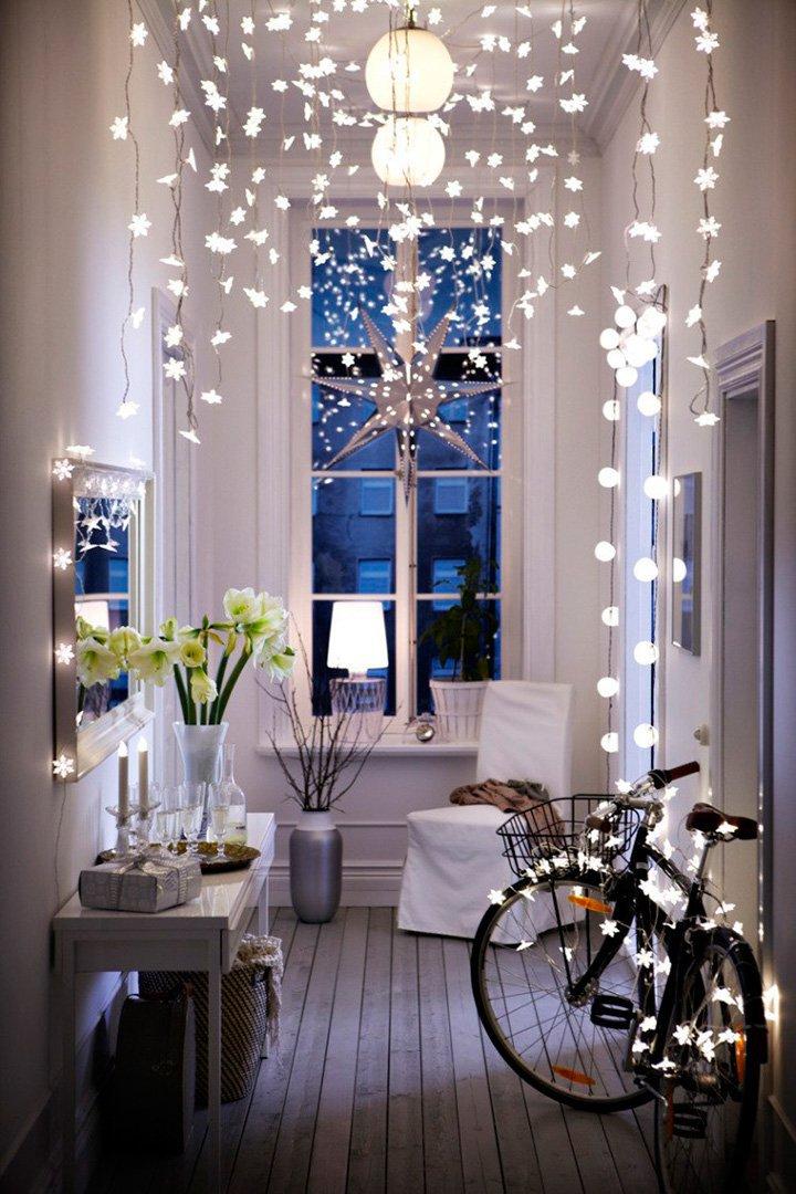 Perth Blackborough Resaltar traicionar  Decoración de Navidad con luces y guirnaldas - StyleLovely