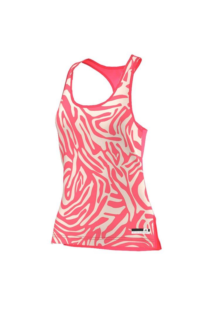 Camiseta rosa con estampados de Adidas