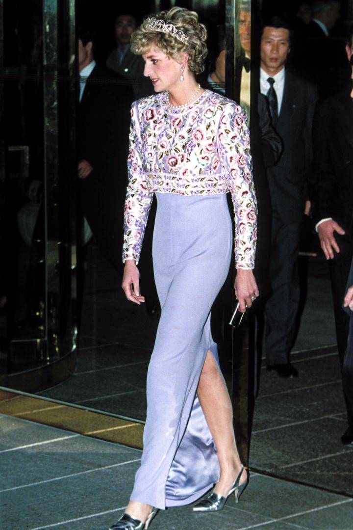 El estilo de Diana de Gales con vestido Lila
