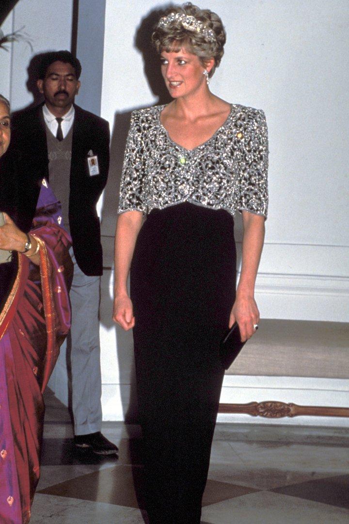 El estilo de Diana de Gales: con vestido de gala