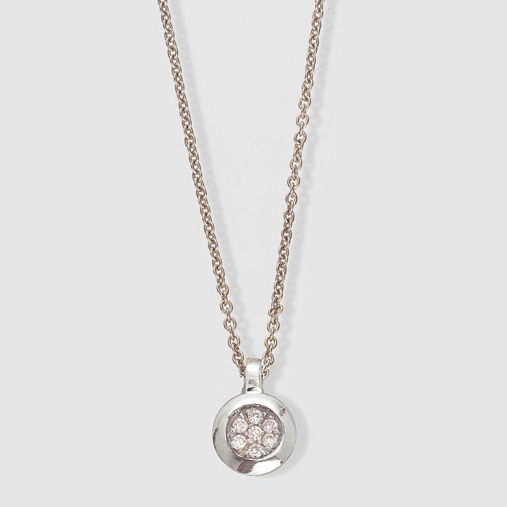 Colgante de oro blanco y diamante Círculo de El Corte Inglés: ideas regalos navidad