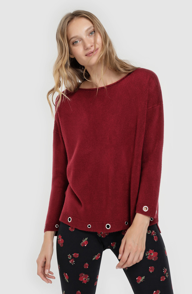 Jersey con manga larga y eyelets de Elogy: jerséis otoño invierno 2018