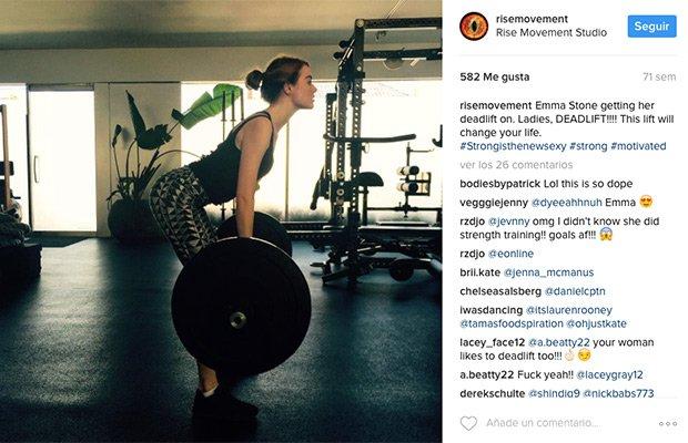 Emma Stone entrenamiento