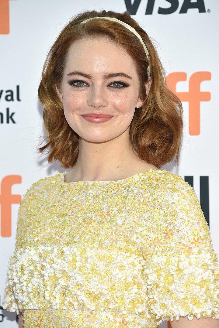 Maquillaje de navidad Emma Stone