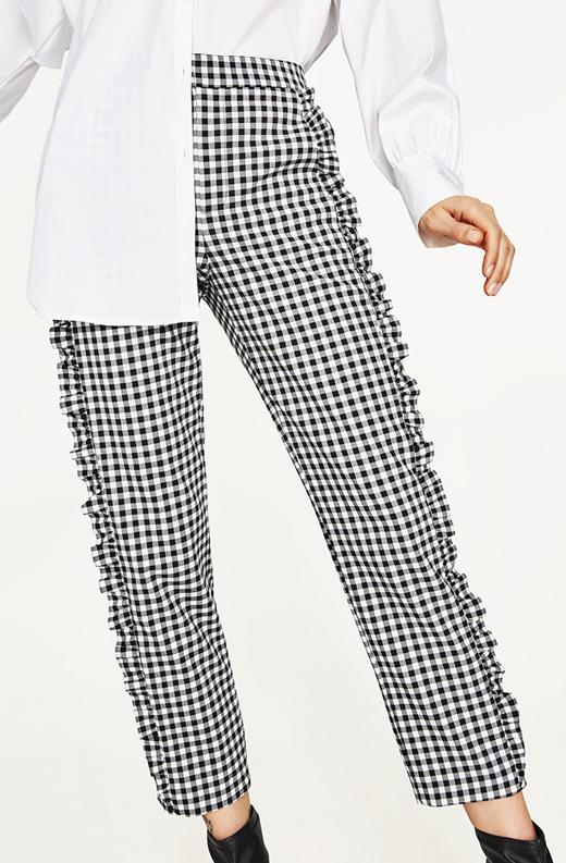 tendencia cuadros vichy pantalones