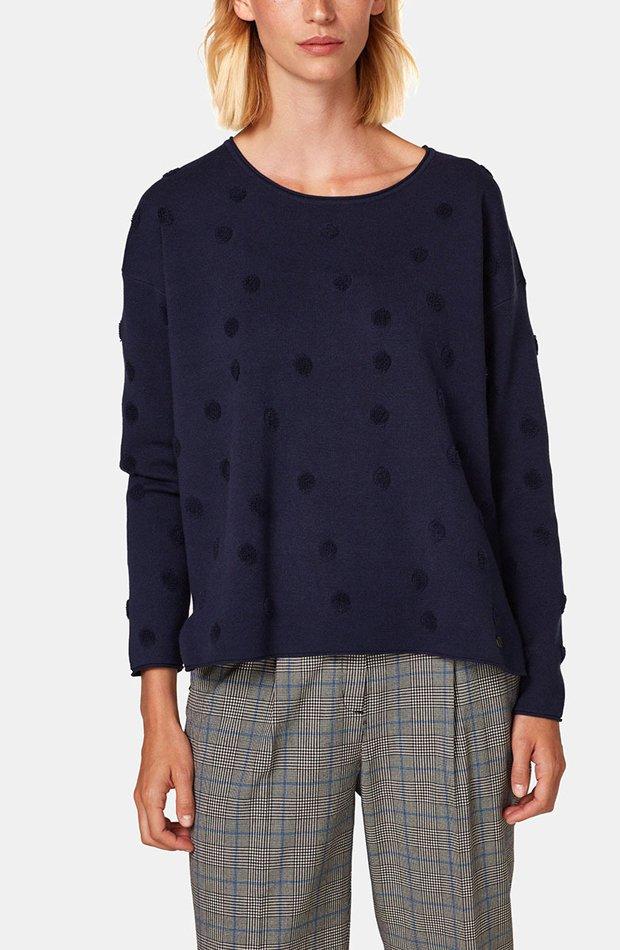 Jersey de lunares con manga larga de Esprit: jerséis otoño invierno 2018