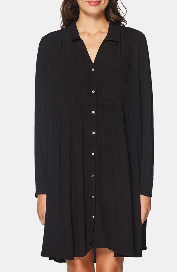 Vestido camisero en color negro de Esprit: prenda invierno vestidos