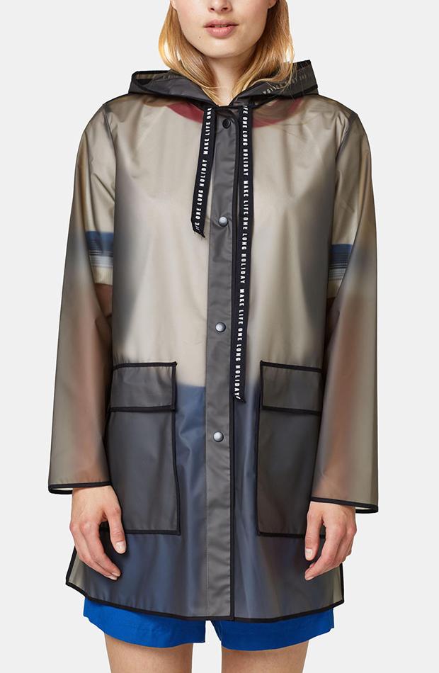 Chubasquero semitransparente con capucha de Esprit: propuestas dias de lluvia