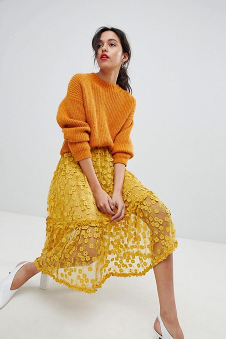bfa568f55b 100 faldas midi para esta primavera - Shopping - StyleLovely