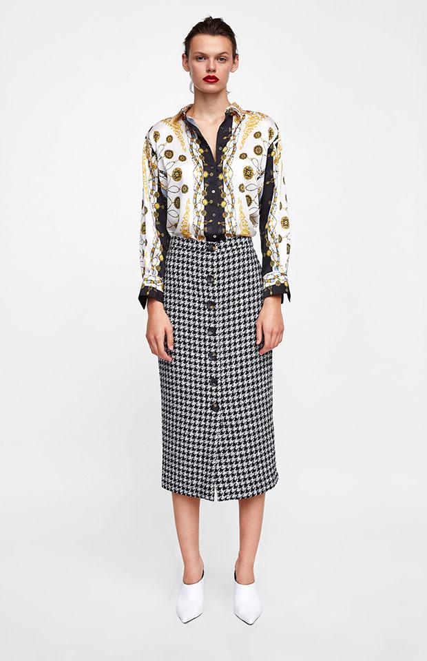 5bef7de4bf 21 faldas midi de Zara que querrás este otoño - StyleLovely