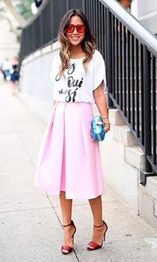 Faldas de verano rosas