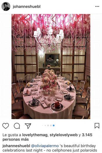 fiesta de cumpleaños de Olivia Palermo