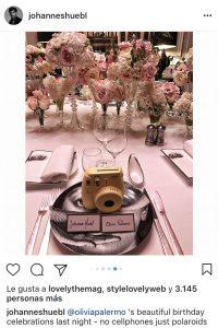 El cumpleaños de Olivia Palermo en Polaroids