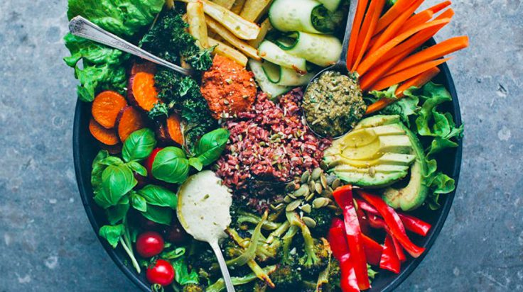 restaurantes flexitarianos: verduras