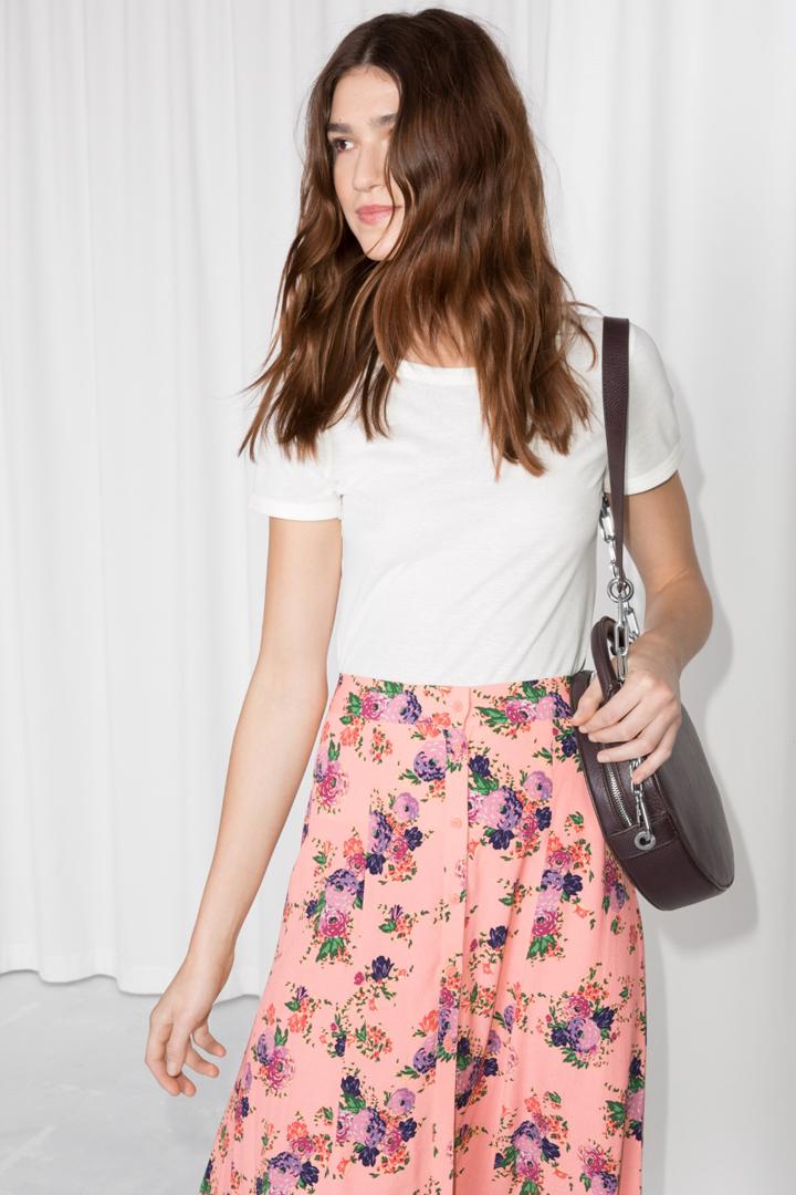 faldas midi primavera floral print & other stories
