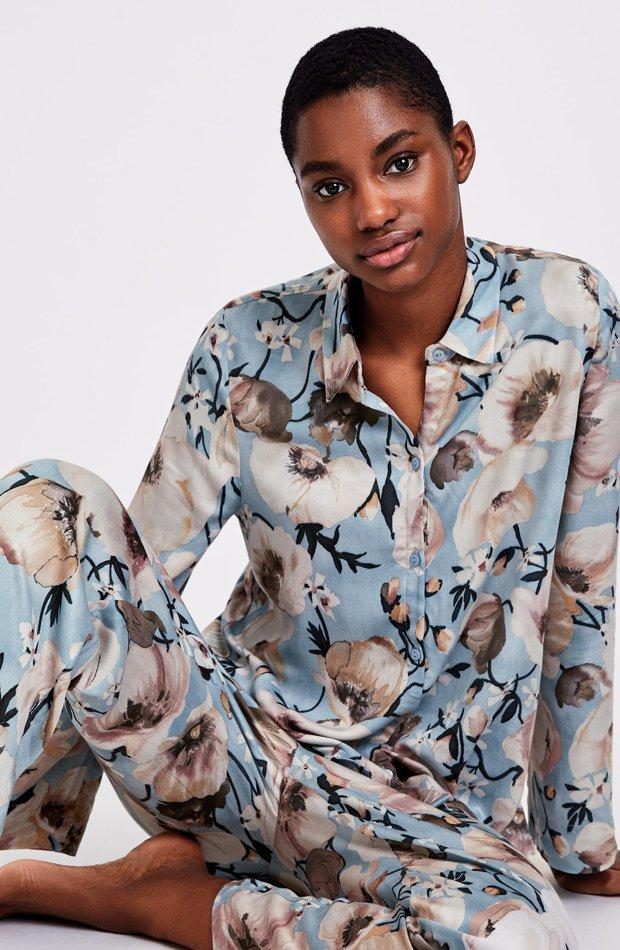 Pijama amapola blanca de Oysho: pijamas