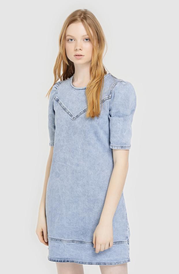 Vestido vaquero azul ácido de Fórmula Joven: vestidos primavera 2019