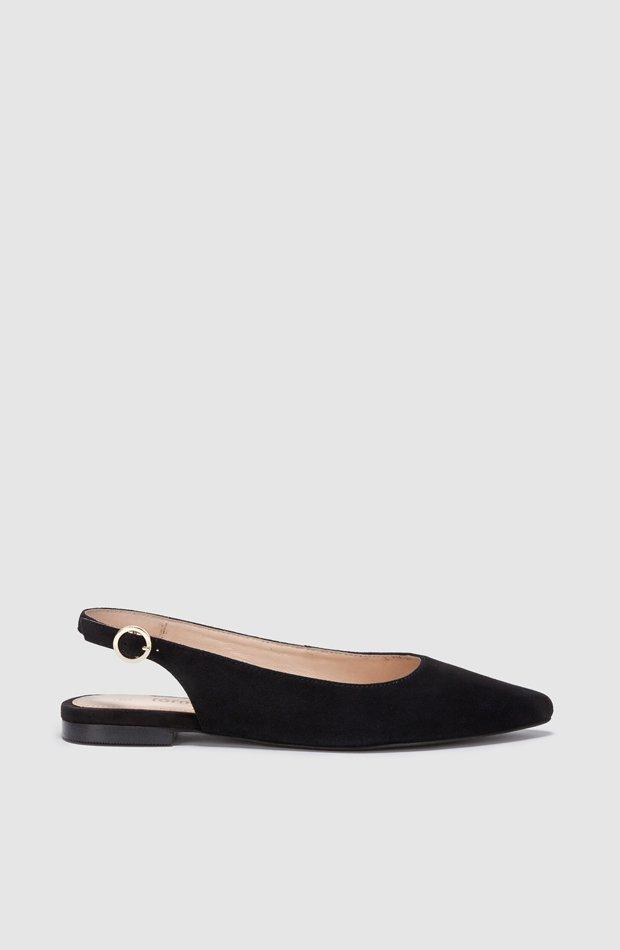 Zapatos planos de piel en color negro de Fórmula Joven: zapatos primavera