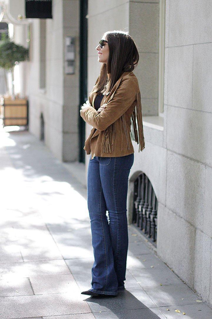 Chaqueta + jeans campana de El Corte Inglés