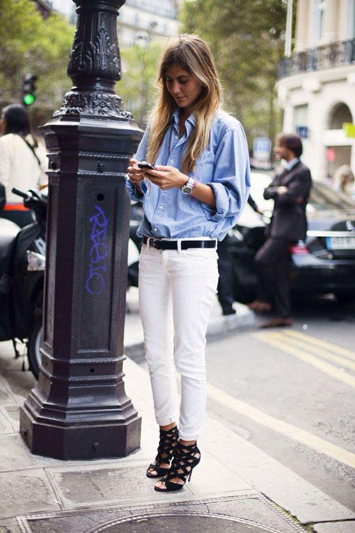 Look con pantalón blanco Fórmula Joven