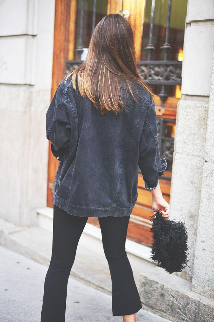 pantalon negro campana de el corte inglés