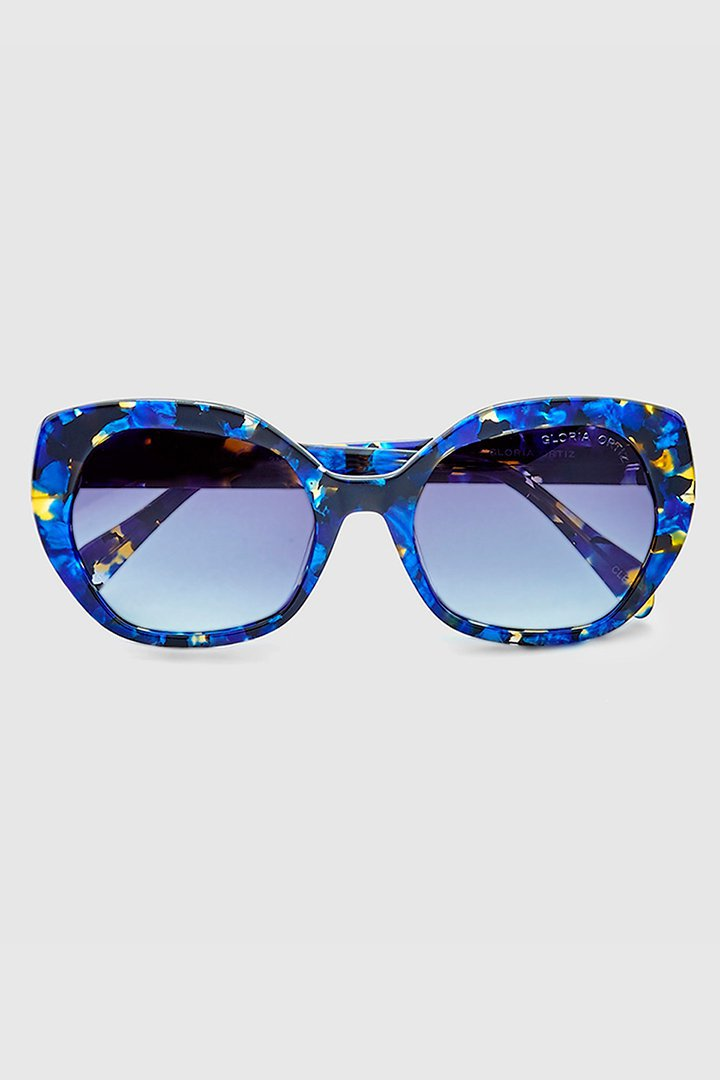 Gafas retro en tonos azules