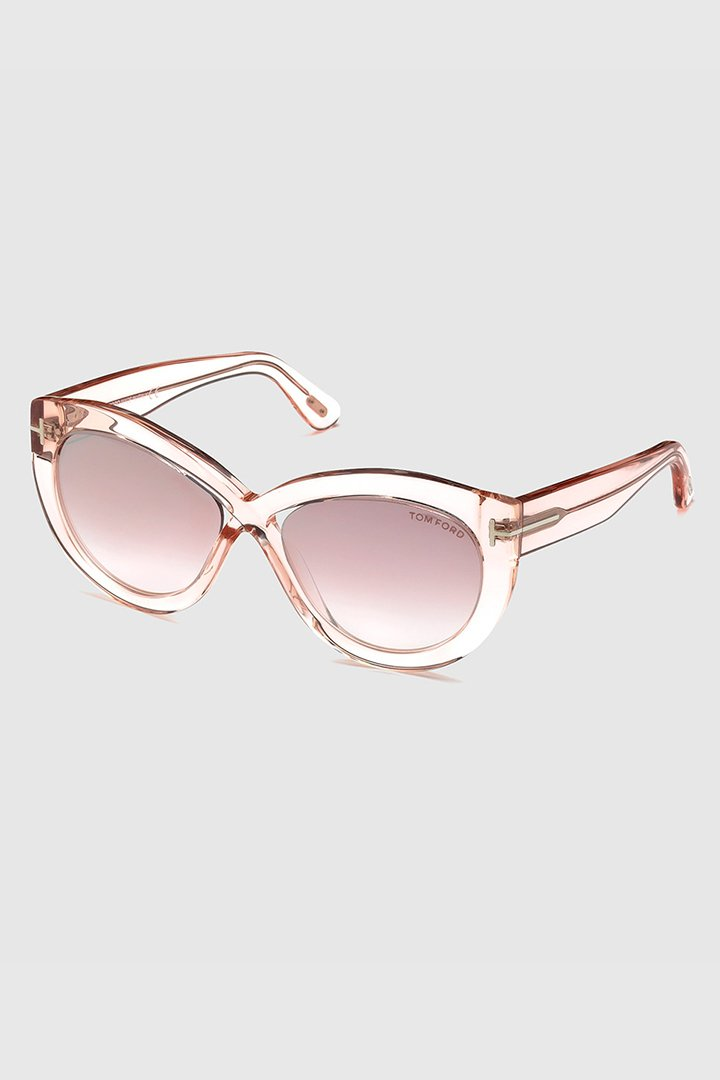 Gafas retro rosas