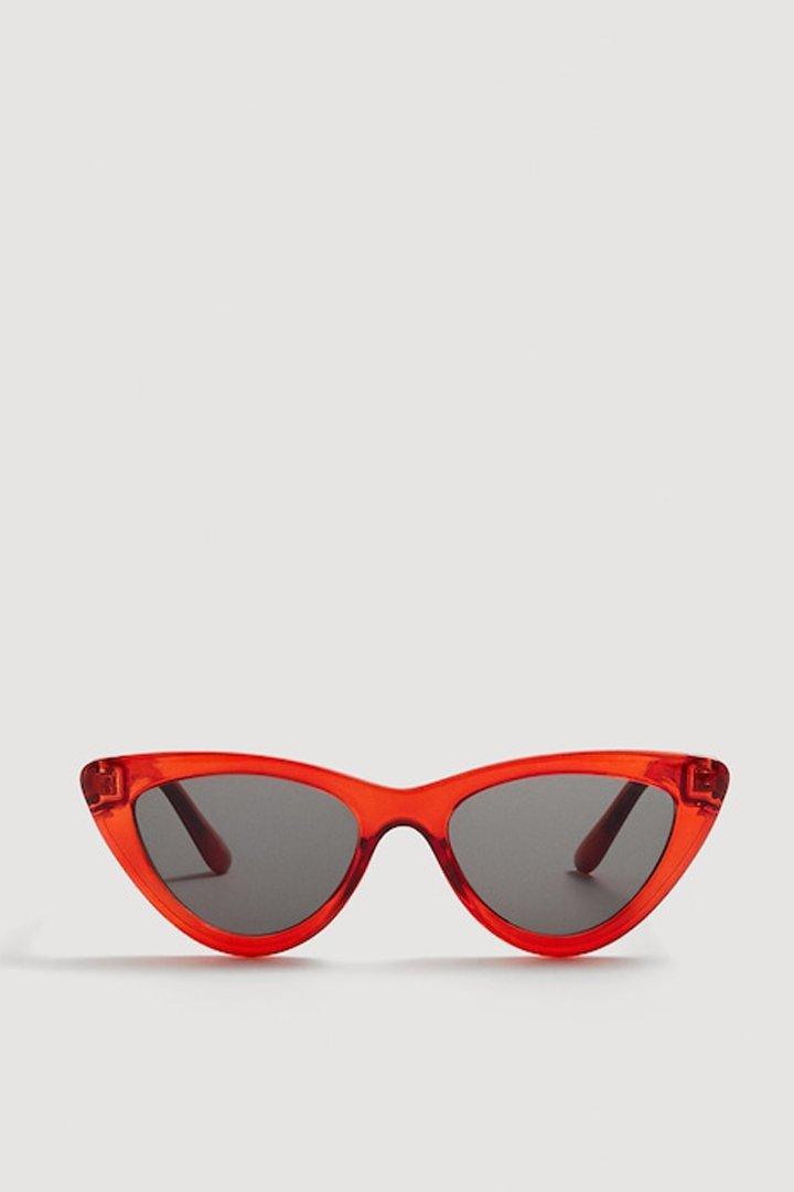 gafas sol cat-eye rojo mango ropa