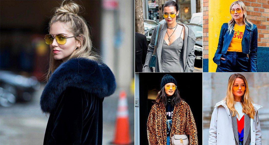 Las gafas de sol amarillas que llevarA?s esta temporada - StyleLovely