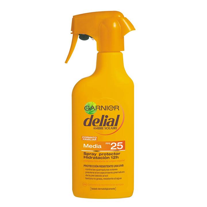 Spray Protector Ultra-Hidratante Delial de Garnier: protectores solares que triunfan
