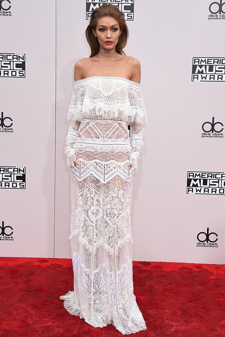 Gigi Hadid American Music Awards Robeto Cavalli