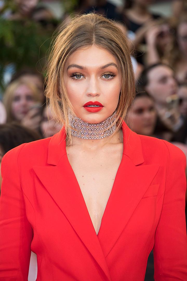 Maquillaje de navidad Gigi Hadid