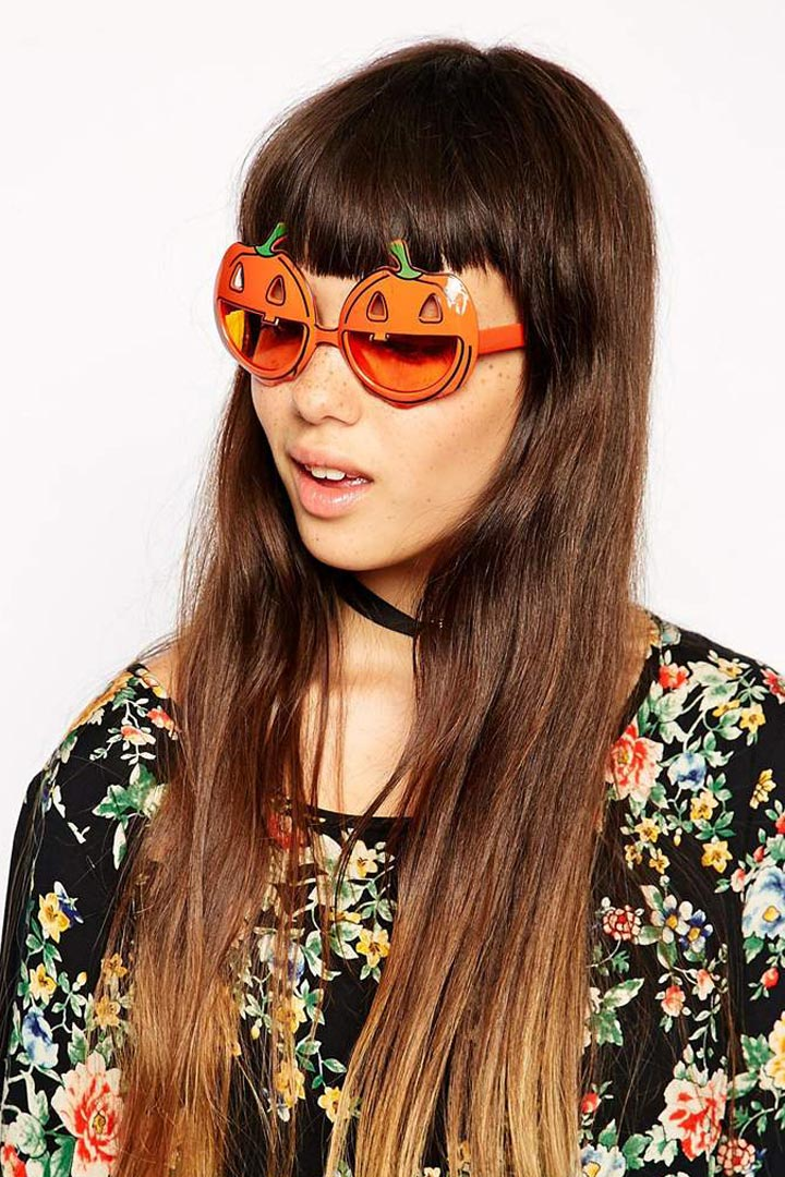 Gafas de sol calabaza naranja