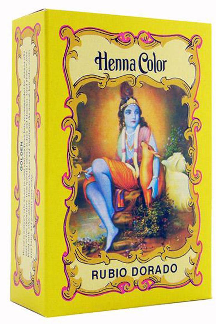 Pelo rubio naturalmente con henna
