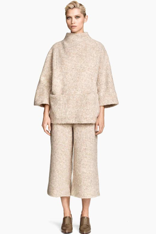 Culottes de lana en color arena