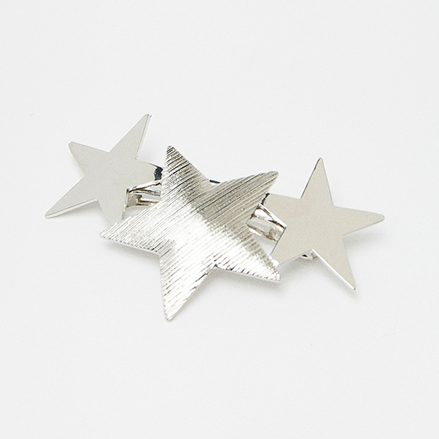 Horquillas con estrellas plata