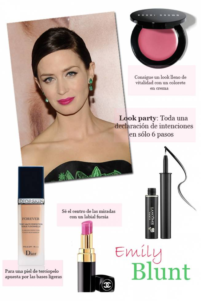 Copia el look beauty de Emily Blunt