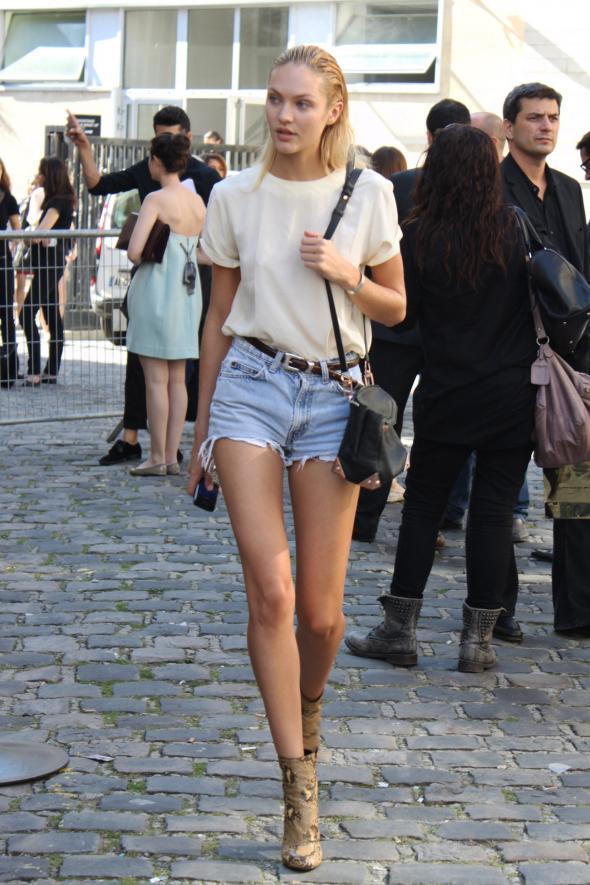 Street Style en París. Modelos.