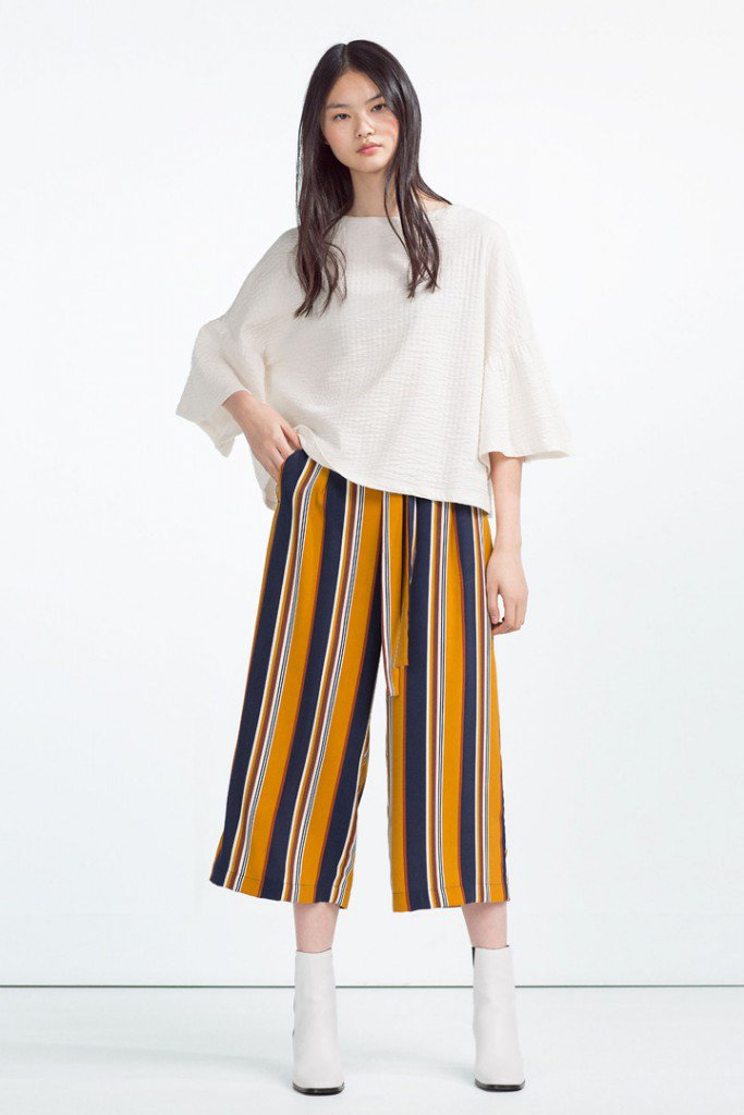 Culottes de rayas de Zara