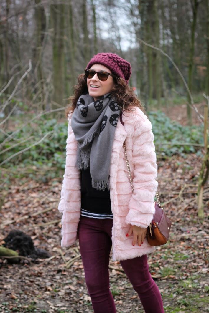 Abrigo de Pelo Rosa - Fur Pink Faux Coat-207-stella