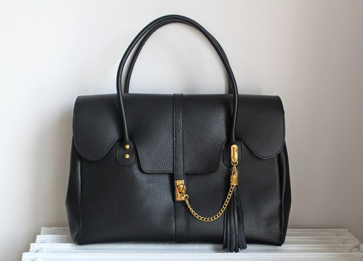 New In: Bolso Negro / Black Leather Bag-167-stella
