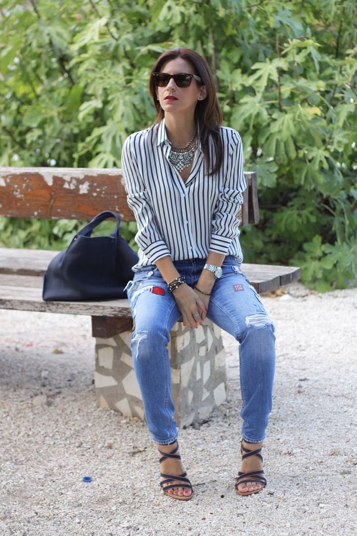 vaqueros rotos ripped jeans look oufit