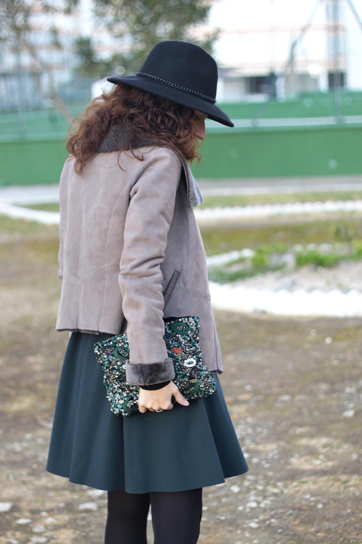 Leather Biker Jacket & Full Skirt-66-stella