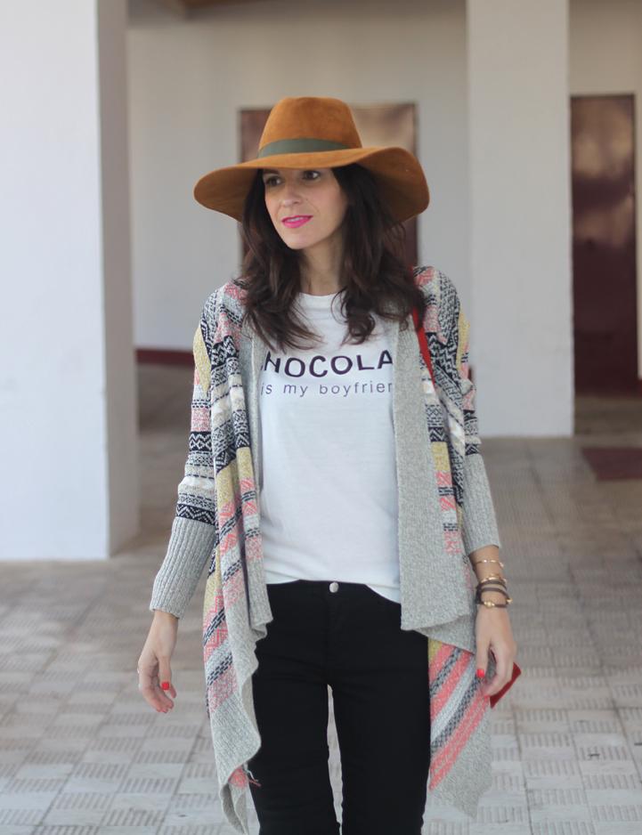 Ethnic Cardigan, Jeans & Hat-54-stella