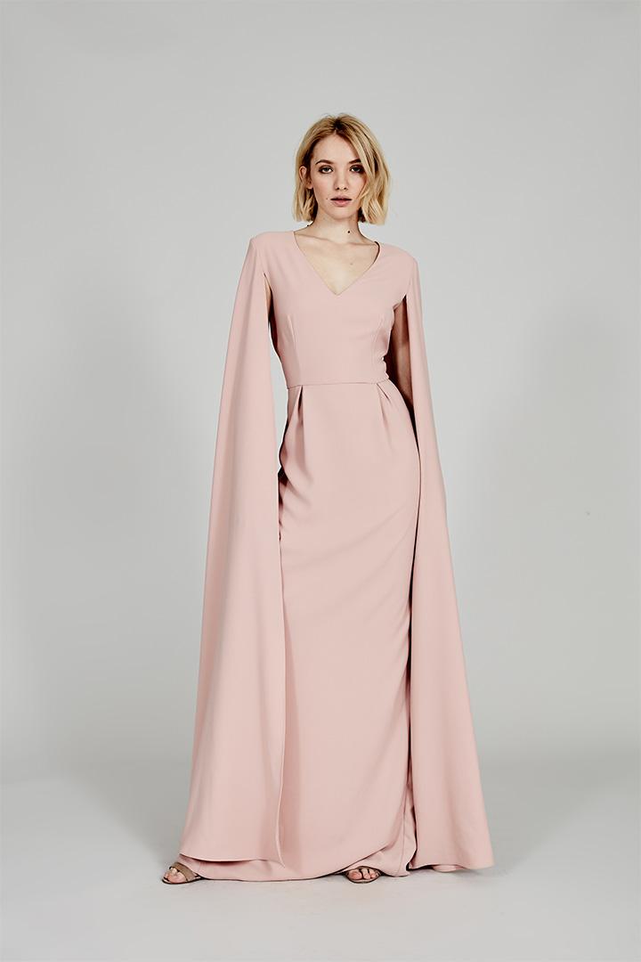 Coosy verano 2018 vestido rosa con capa