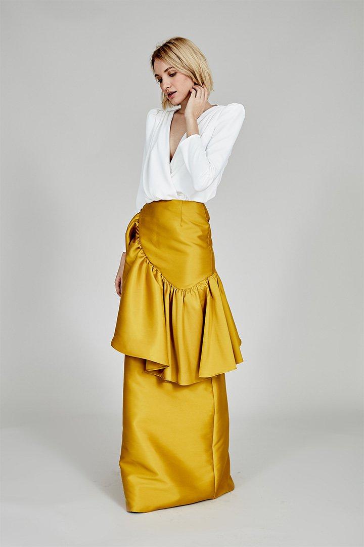 Coosy verano 2018 falda amarilla