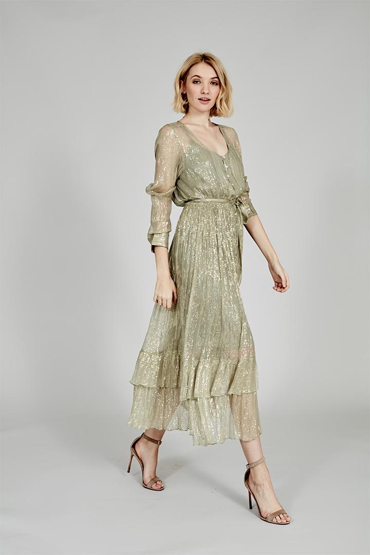 Coosy verano 2018 vestido con brillos